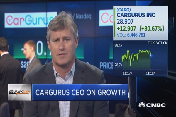 CarGurus spikes more than 82 percent on IPO