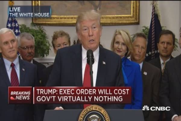 Trump on health care order: We're moving toward lower costs and more options