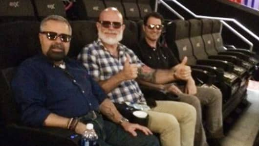"CNBC.com editors Jim Pavia, Ken Kiesnoski and Eric Rosenbaum take in a 4DX showing of ""Blade Runner 2049."""
