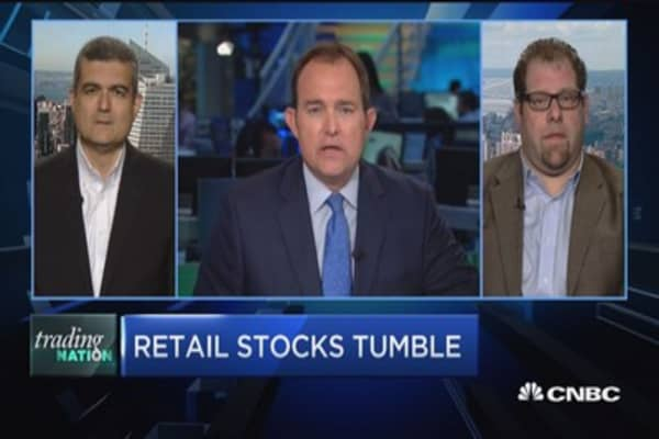 Retail stocks tumble