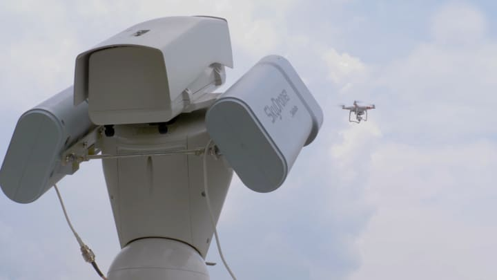 SkyDroner, an anti-surveillance system