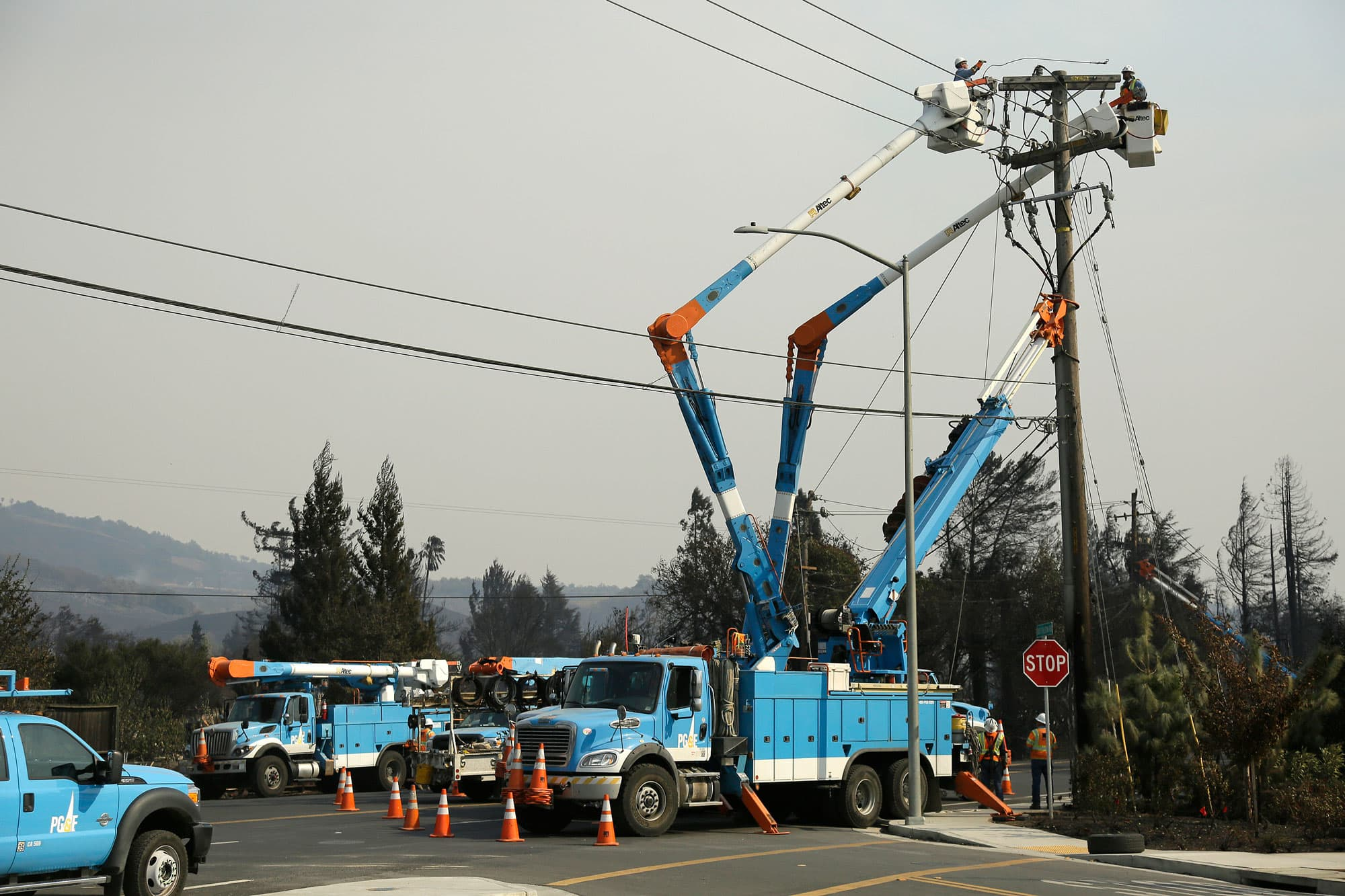 PG&E plunges on concern its power lines may have started ...