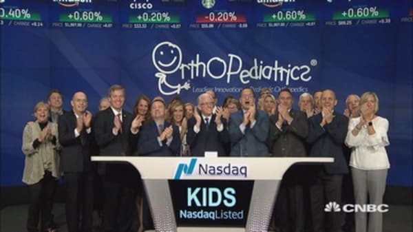 OrthoPediatrics celebrates initial public offering