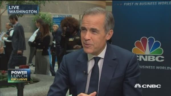 Bank of England governor: Inflation will start to come in stimulative environment