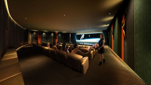 As part of One Manhattan Square's Entertainment and Recreation amenities, they offer a Screening room and performance area.