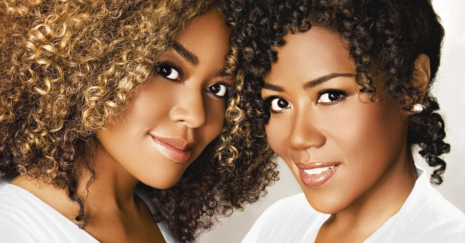 Sisters Titi(L) and Miko Branch(R) are the founders of natural hair care line Miss Jessie's.