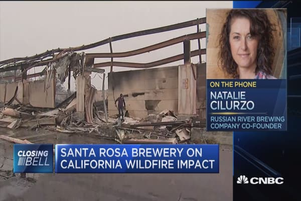 Santa Rosa brewery owner on California wildfire impact