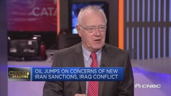 Incorrect that oil prices are rising on Iraq troubles