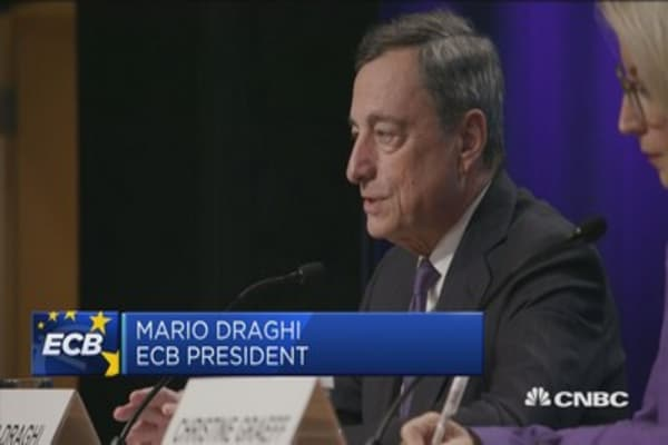 No evidence of stretched valuations in the euro zone: Draghi
