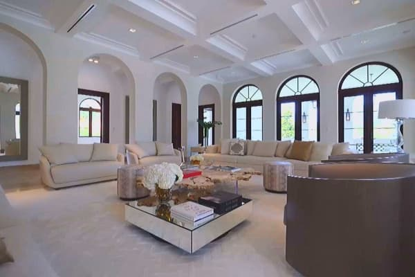 Inside the 25 million bacardi mansion in miami for 10 x 16 living room