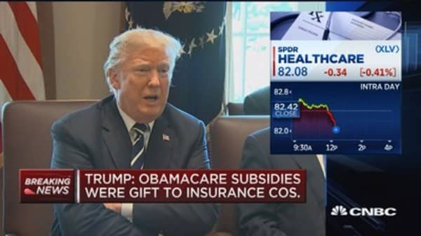 Trump: Obamacare subsidies were gift to insurance companies
