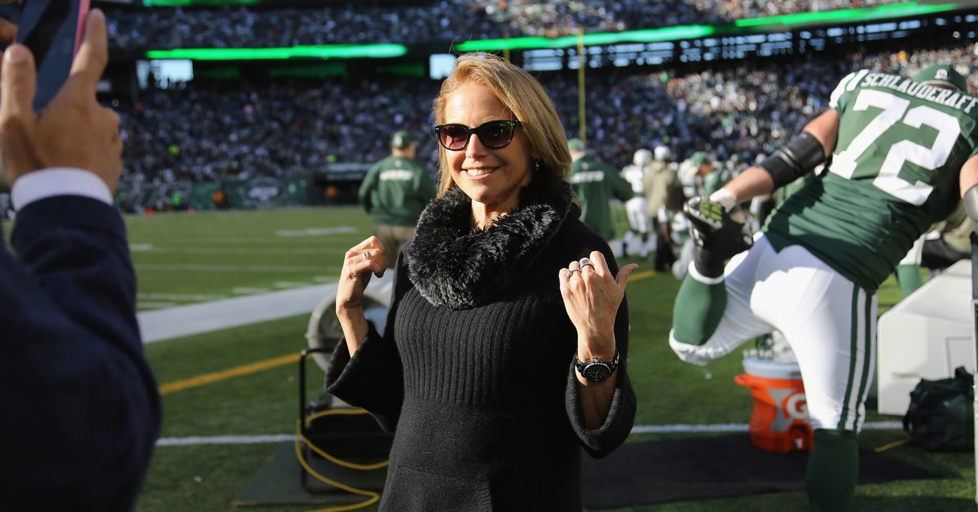 Katie Couric at MetLife Stadium