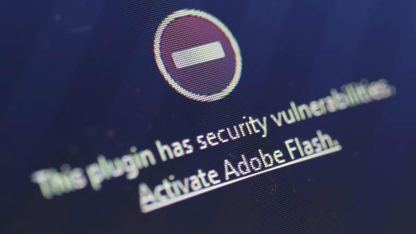 A window on the Mozilla Firefox browser shows the browser has blocked the Adobe Flash plugin from activating due to a security issue on July 14, 2015 in Berlin, Germany. According to online reports Adobe Flash is easily exploitable on several fronts by hackers, who can use Flash to gain access to a user's computer, and that so far Adobe has not yet released a fix.