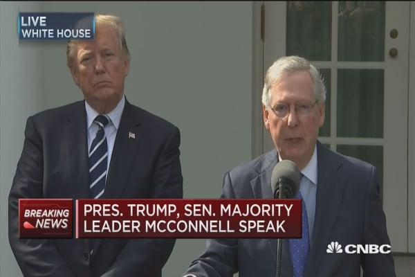 Sen. McConnell: President and I have the same agenda