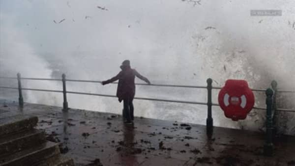 Two killed as Ireland lashed by hurricane-force winds in 'worst weather event in 50 years'