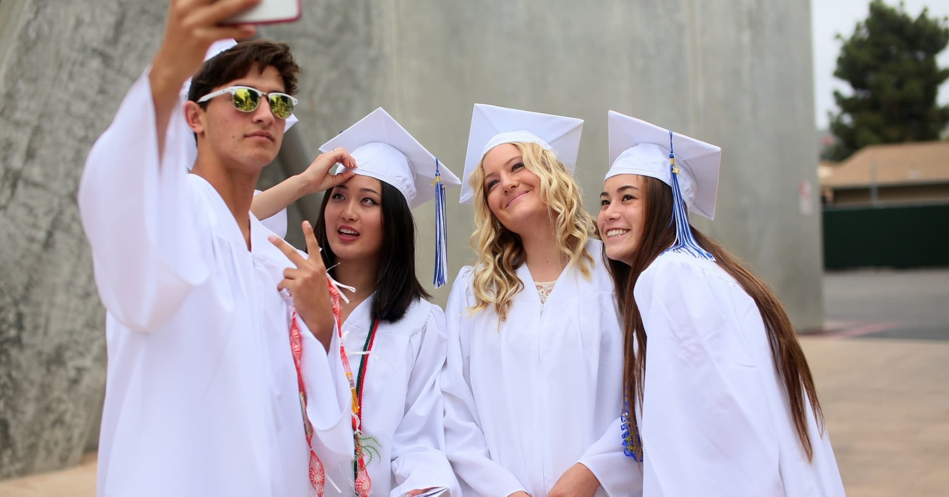 High School students in the class of 2015 in La Jolla, California.