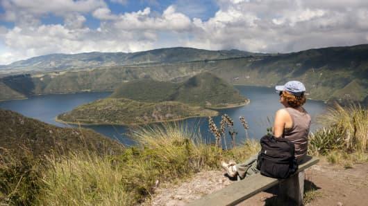 Cuicocha lake, Cotacachi, Equador