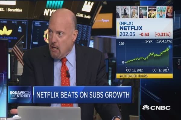 Too much enthusiasm could drive Netflix lower: Jim Cramer