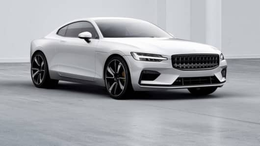 The new Polestar 1 electric car.