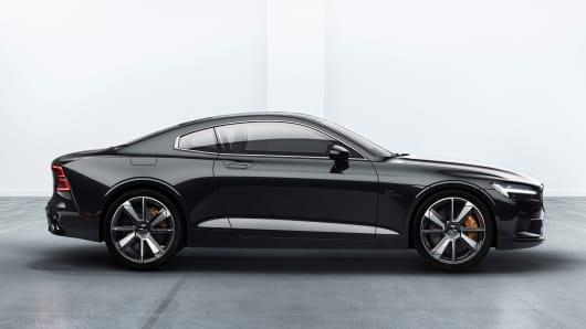 Volvo unveils polestar 1 sports coupe source polestarvolvo sciox Choice Image
