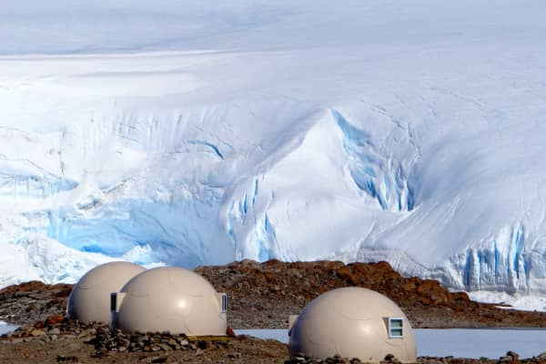 Sleeping pods at White Desert Antarctica