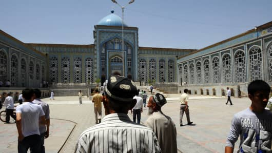 The central mosque in Dushanbe, the capital of Tajikistan.