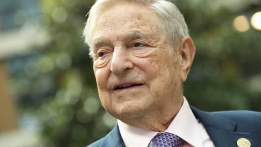 Soros donated one of the funds, nearly  $ 20 billion