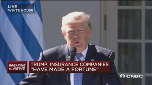 Trump: Insurance companies have made a fortune