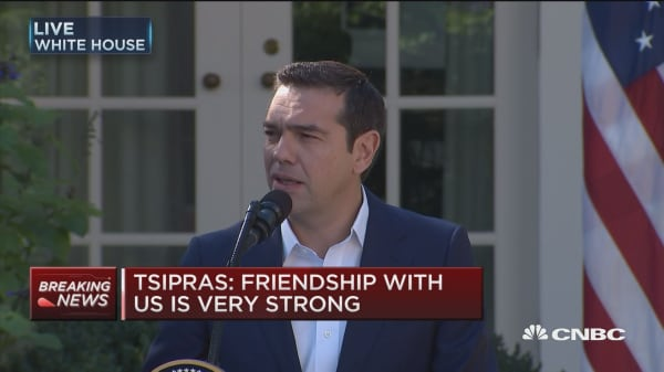 Greek PM Tsipras: Friendship with US is very strong