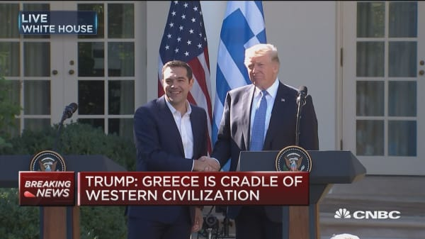Trump: We have great confidence in Greece as a nation and ally