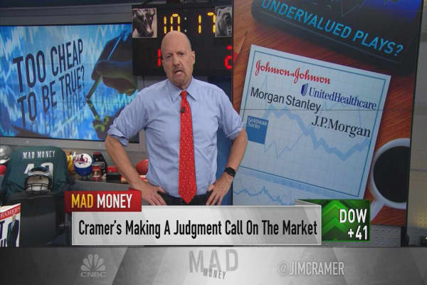 Cramer pushes back against 'peak earnings' theory with 5 cheap stocks