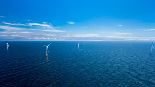 The world's first floating wind farm has begun production