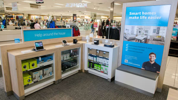 The Amazon kiosk in a Kohl's department store.