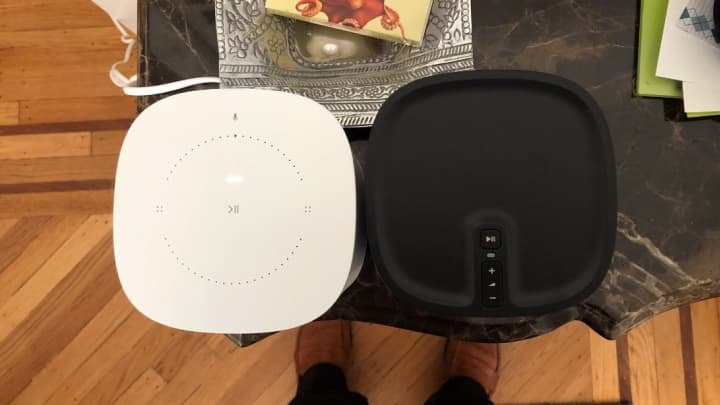 There are changes on the top of the Sonos