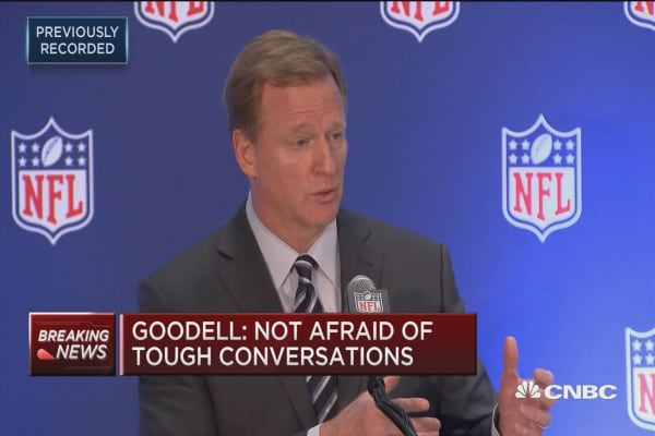 NFL Commissioner Goodell: Complete support for the league and clubs to support players