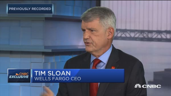 Wells Fargo CEO Tim Sloan: Scandal hasn't impacted commerical business