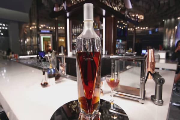 This bottle of McCallan M Decanter costs more than $6,000.