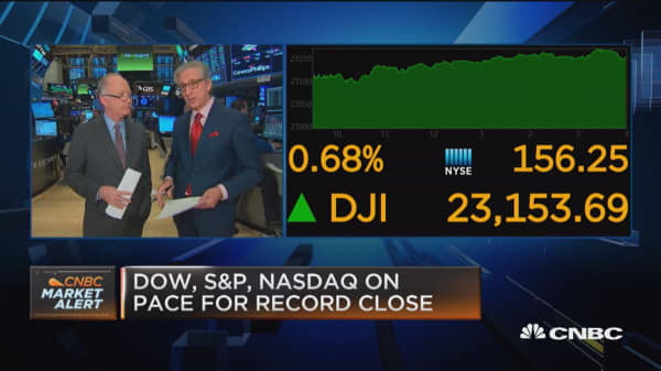 IBM leads the Dow higher