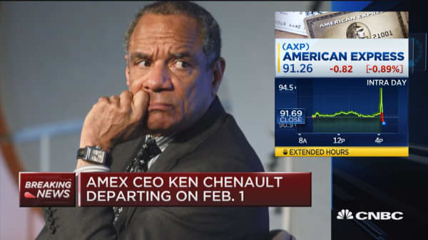 Amex CEO Ken Chenault departing on Feb. 1