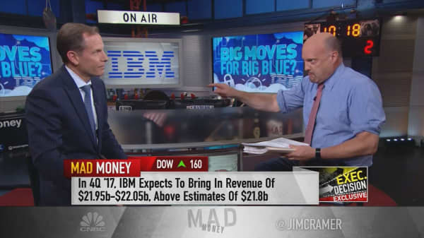 IBM will get a strong tailwind from the weak dollar, CFO Martin Schroeter says