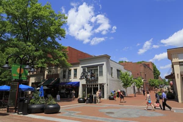 Historic Downtown Mall, Charlottesville, Virginia.