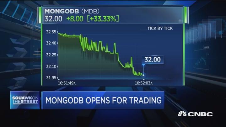 MongoDB IPO opens over $32