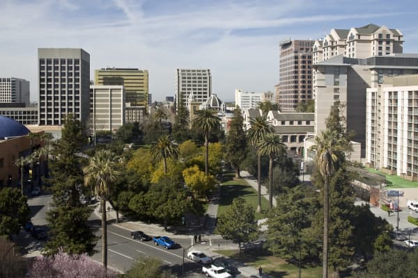 View of downtown San Jose, California.