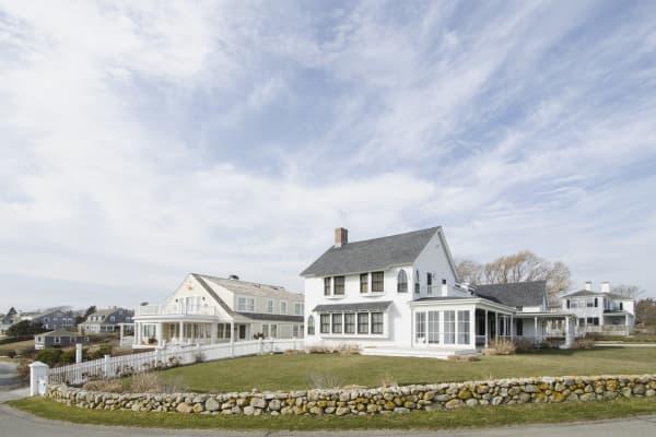 Quiet Cape Cod neighborhood, Hyannis Port, Barnstable Town, Massachusetts.
