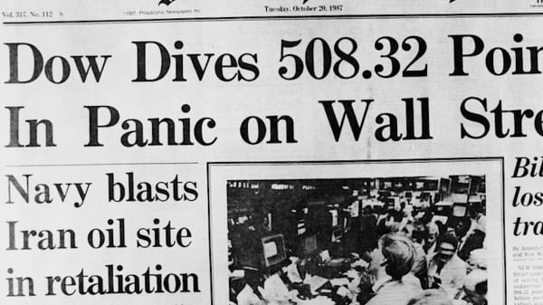 Trump told The Wall Street Journal in 1987 he sold 'all' his stocks before the 'Black Monday' crash