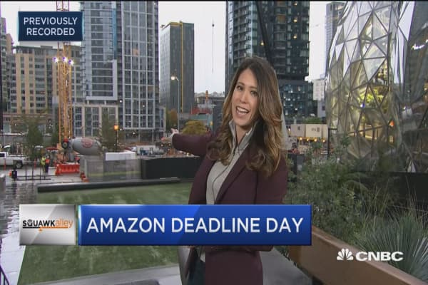 Deadline day for Amazon HQ2 bids