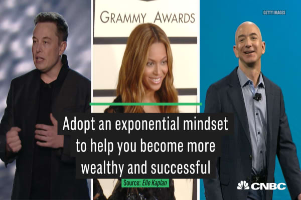 Adopt an exponential mindset to help you become more wealthy and successful