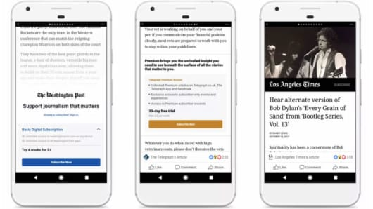 Facebook Begins Testing Subscriptions For Instant Articles On Android Devices