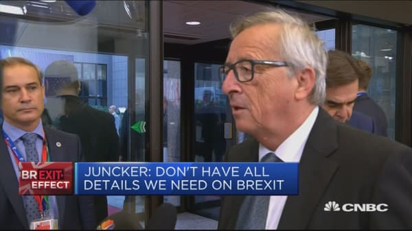 Don't have all details we need on Brexit: Juncker