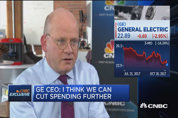GE CEO John Flannery on cash flow: We can cut spending substantially